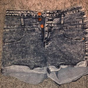 REFUGE HEATHER GREY JEAN SHORTS